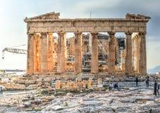 Akropolparthenonen i Aten, Grekland Fotografering för Bildbyråer