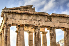Akropolparthenonen i Aten, Grekland Royaltyfria Foton