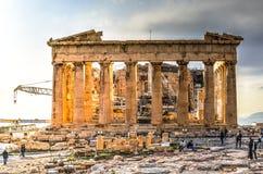 Akropolparthenonen i Aten, Grekland Royaltyfria Bilder