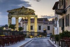 akropolu agory Athens zamknięta hadrian biblioteczna rzymska s strona widok Fotografia Royalty Free