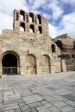 akropolu Athens odeon kamienia theatre zdjęcie stock
