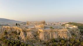 Akropolu Parthenon widok z lotu ptaka zbiory