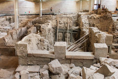 Akrotiri archaeologica site Royalty Free Stock Photos