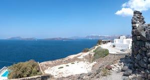 Akrotiri beach - Santorini Cyclades island - Aegean sea - Greece. View of Akrotiri - Santorini Cyclades island - Aegean sea - Greece royalty free stock photos