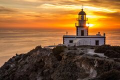 Akrotiri Lighthouse Royalty Free Stock Image