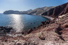Akrotiri Red Beach Santorini Stock Photos
