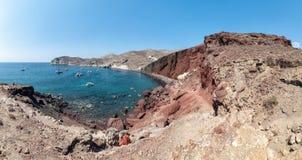 Akrotiri red beach - Santorini Cyclades island - Aegean sea - Gr. View of Akrotiri red beach - Santorini Cyclades island - Aegean sea - Greece stock photos