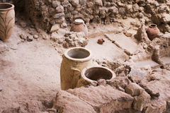 Akrotiri, Santorini, Archaeological site Royalty Free Stock Photos