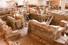 Akrotiri site Royalty Free Stock Images