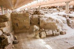 Akrotiri site Royalty Free Stock Photos