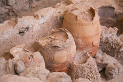 Akrotiri site Royalty Free Stock Photography