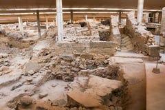 Akrotiri site Stock Photo