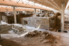Akrotiri site Royalty Free Stock Photography