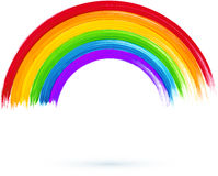 Akryl målad regnbåge, vektorillustration Arkivfoto