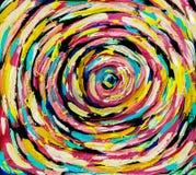 Akryl på kanfas Mångfärgad spiral royaltyfri illustrationer