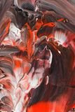 Akrylbakgrund i pastellfärgade signaler av rött och svart Royaltyfri Foto