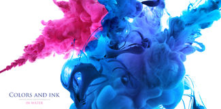 Akrylfärger i vatten abstrakt bakgrund Royaltyfri Bild