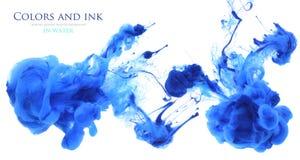 Akrylfärger i vatten abstrakt bakgrund Arkivbild