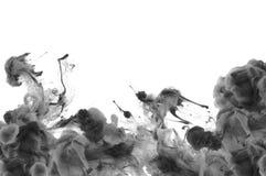 Akrylfärger i vatten abstrakt bakgrund Arkivfoton