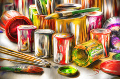akrylmålningshjälpmedel