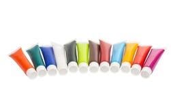 akrylowa farba w tubce Zdjęcia Stock