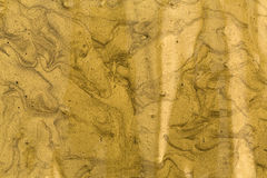 Akrylowa złocista farba Zdjęcia Stock