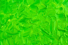 Akrylowa zielona farba Fotografia Stock