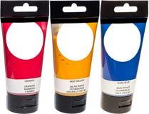 akrylowej farby tubki Obraz Royalty Free