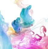 Akrylowi kolory w wodzie. Fotografia Royalty Free