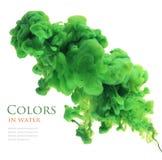 Akrylowi kolory w wodzie abstrakcyjny tło Fotografia Stock
