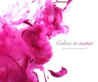 Akrylowi kolory w wodzie abstrakcyjny tło Zdjęcie Royalty Free