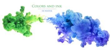 Akrylowi kolory w wodzie abstrakcyjny tło Zdjęcia Stock
