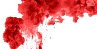 Akrylowi kolory w wodzie abstrakcyjny tło Zdjęcia Royalty Free