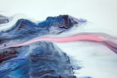 Akrylowy, farba, abstrakt Zbliżenie obraz Kolorowy abstrakcjonistyczny obrazu tło Textured nafciana farba Wysokiej jakości royalty ilustracja