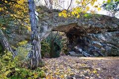 Aksamit gate, Kotyz reservation, Koneprusy caves, Czech Karst, Czech Republic Stock Photos