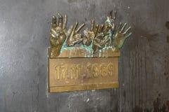 Aksamitnej rewoluci pomnik w Praga republika czech obraz stock