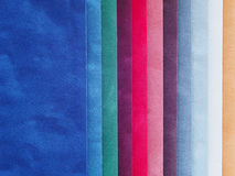 Aksamitny koloru swatch fotografia stock