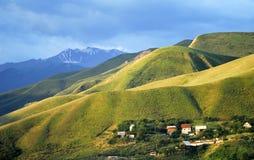 Aksay doliny rzeczny krajobraz, Almaty, Kazachstan Obrazy Stock