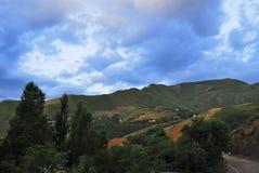 Aksay doliny rzeczny krajobraz, Almaty, Kazachstan Obrazy Royalty Free