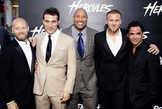 Aksel Hennie, Rufus Sewell, Dwayne Johnson, Tobias Santelmann and Reece Ritchie Stock Photos
