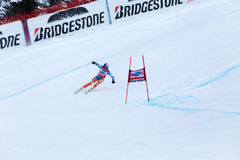 Aksel Lund Svindal winner Fis world cup Bormio 2013 Stock Images