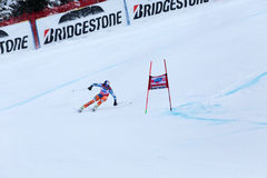 Aksel Lund Svindal winner Fis world cup Bormio 2013 Royalty Free Stock Photo