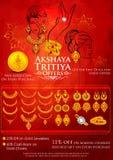 Akshaya Tritiya celebration Sale promotion Royalty Free Stock Images