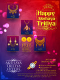 Akshaya Tritiya celebration Sale promotion. Illustration of Akshaya Tritiya celebration jewellery Sale promotion Royalty Free Stock Photos