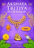 Akshaya Tritiya celebration Sale promotion royalty free illustration