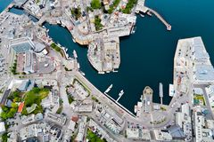 Aksla an der Stadt von Alesund, Norwegen Stockbilder
