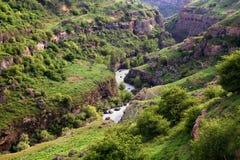Aksu-Fluss-Schlucht lizenzfreie stockbilder