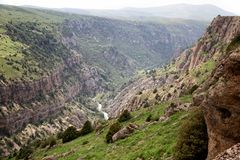 Aksu River Canyon Royalty Free Stock Images