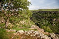 Aksu River Canyon. Aksu-Jabagly natural reserve in Alatau mountains, Central Asia, Kazakhstan Stock Image