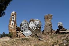 Aksum的石碑在埃塞俄比亚 库存照片